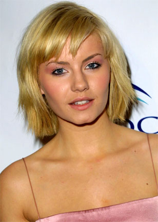Elisha Cuthbert Hairstyle The blunt, choppy bob is quite different from