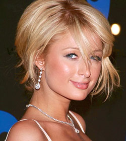 Paris Hilton Choppy Hairstyle